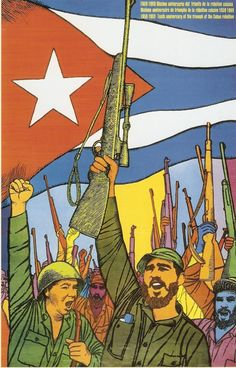 Castro's Revolution, Illustrated - The New York Times A poster marking the anniversary of the rebellion by Felix René Mederos Pazos. Credit Personal archive of Lincoln Cushing Communist Propaganda, Propaganda Art, Political Posters, Political Art, Revolution Poster, Che Guevara, Socialist Realism, Poster Boys, Russian Revolution