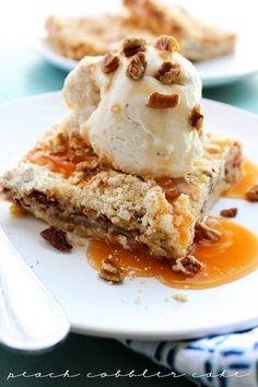 Peach Cobbler Cake -