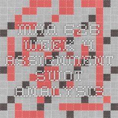 MHA 626 Week 4 Assignment SWOT Analysis