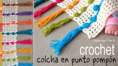 Colcha tejida en punto pompón a crochet - Tejiendo Perú - Crochet - Plaid Crochet, Stitch Crochet, Single Crochet Stitch, Easy Crochet, Crochet Stitches, Crochet Hooks, Crochet Baby, Manta Crochet, Crochet Afghans