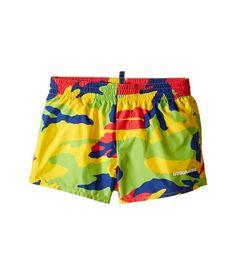 Dsquared2 Kids - Camouflage Shorts (Little Kids/Big Kids) (Multi) Boy's Swimwear - Brought to you by Avarsha.com