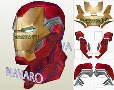 Iron Man Helmet, Iron Man Suit, Iron Man Armor, Iron Man Face, New Iron Man, Iron Man Cosplay, Cosplay Armor, Cosplay Helmet, Iron Man Pepakura