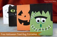 Free Halloween treat bag printables on Press Print Party!
