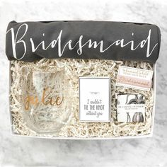 Our Bride to Be Gift Box is an adorable way to spoil the new bride! We took all of our favorite bridal items and wrapped them in a luxury gift box - this is one gift she's sure to love (and use) forev