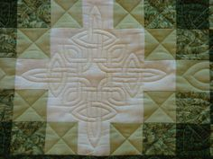 For Andy and Pat's quilt:  Celtic knot Irish chain quilt-close up