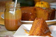 Slow Cooker Sticky Caramel Pumpkin Cake from Platter Talk