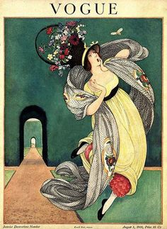 Vogue Cover Copyright 1918 The Lady And The Bee