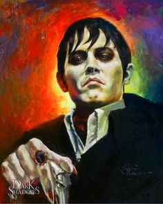 Johnny Depp as The New Barnabas Collins in color by ~AbdonJRomero on deviantART