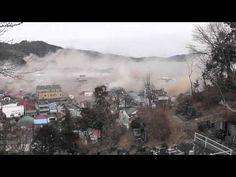 The moment of the tsunami  at Otsuchi-cho in Iwate. 3,11 岩手県大槌町 津波の瞬間