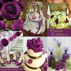 Plum and Olive Wedding Colors | #exclusivelyweddings
