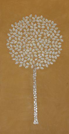 Árvore em Mosaico com Espelho