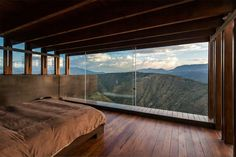 Wooden Room With A View By Sebastian Crespo