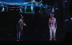 Snoop Dog performed with a hologram of Tupac Shakur. (Continue to click on the image to arrive at a video.)