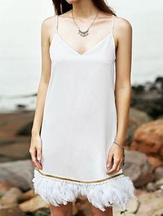 Cami White Fringe Dress #womensfashion #pinterestfashion #buy #fun#fashion
