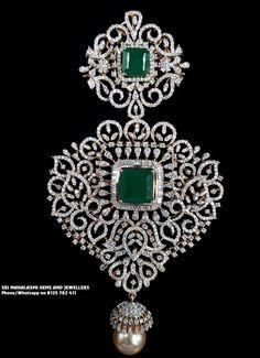 Jewellery Designs - Latest Indian Jewellery Designs 2019 ~ 22 Carat Gold Jewellery one gram gold Diamond Necklace Set, Diamond Pendant, Diamond Jewelry, Diamond Mangalsutra, Diamond Bangle, Gold Jewelry, Gold Jewellery Design, Pendant Design, Bridal Jewelry