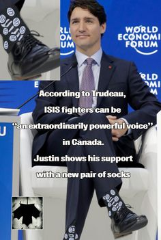 """According to Trudeau, ISIS fighters can be """"an extraordinarily powerful voice"""" in Canada.LOST FOR WORDS The Twits, Short Words, Political Memes, Justin Trudeau, Pray For Us, Conservative Politics, Truth Hurts, Current Events, How To Memorize Things"""