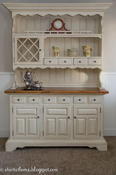 how to give an old hutch new life, painted furniture