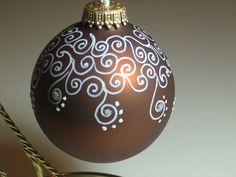 Hand Painted Glass Ball Christmas Ornament