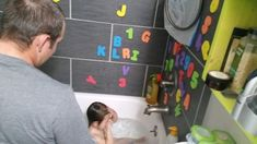 Several easy ways for teaching toddler letters! Our daughter did these and knew her alphabet by years old. Alphabet Video, Sing The Alphabet, Alphabet Sounds, Teaching The Alphabet, Alphabet Book, Teaching Toddlers Letters, Chemistry Teacher, Magnetic Letters, How To Show Love