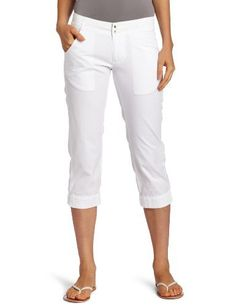 Columbia Women's Super Bonehead Capri by Columbia. $37.50. Omni-Shade UPF 30 sun protection. Cotton. Iconic PFG branding on back waist. Roll up cuffs on end of capri for extra color pop. Ultra soft to the touch fabric with sun protection makes these capris perfect for everyday summer wear.
