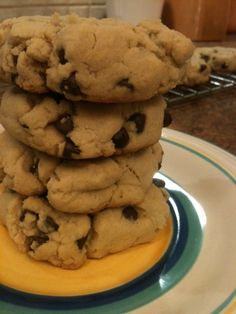 Chocolate Chip Cookies with maple syrup and brown rice flour iheartwellness.com