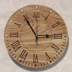 Take Time' Laser Cut Clock