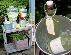 Great for an outdoor summer reception or cocktail hour