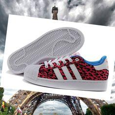online retailer 97cf9 d3483 Chaussures de course adidas superstar 2 femme lite toile léopard rouge blanc   zAzhc