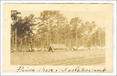 RP; Piney Grove,influenza Isolation Camp, Charleston, South Carolina, 1918 [RARE] Item# SCVIEW64521 (82682014)