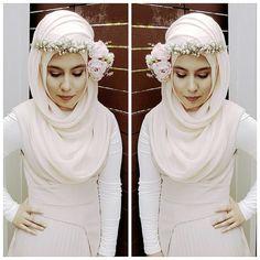 Hijab Atau Rambut Mahkota Kepalamu Akan Terlihat Menawan Dengan 12 Inspirasi Flower Crown Ini Untuk Hari Bahagiamu!