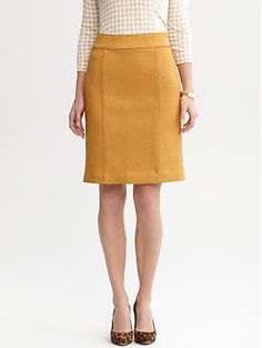 Solid textured pencil skirt | Banana Republic. The texture of this skirt is unbelievably gorgeous!