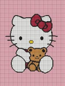 CROCHET PATTEN HELLO KITTY AFGHAN GRAPH E-MAILED.PDF BUY 1 PATTERN GET 1 FREE by crochetpatternsetc