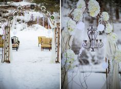 Alice in Wonderland Inspired Winter Wedding Arch and Ceremony #otgbstyledcontest