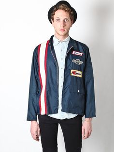 Blue Nylon Racing Jacket by Flyinganyc on Etsy, $65.00