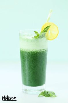 Spirulina Smoothie Recipe - The Nutty Scoop from Nuts.com