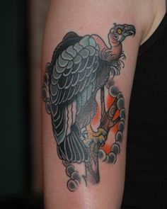 Deer Skull And Flying Vulture Tattoo Design | Ink ...