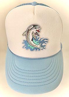 45666b617d8 Lidsville Happy Dolphin Trucker Hat White Blue Lidsville https   www.amazon