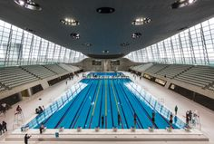 The London Aquatics Centre at the Olympic Park in Stratford London.