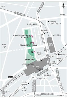 GRAND FRONT OSAKA Map Signage, Map Design, Graphic Design, City Layout, Information Design, Location Map, Environmental Design, Thing 1, Book Cover Design