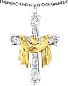 God's Loving Promise Diamond Pendant - The Danbury Mint