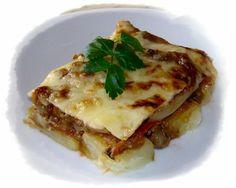 SA CUINA DE NA ROSER: Pastel de patatas con berenjenas y champiñones