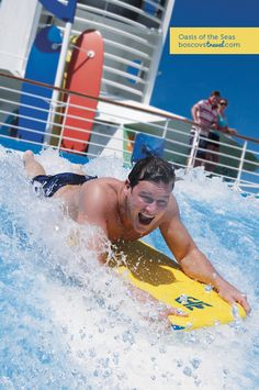 Royal Caribbean Oasis of the Seas Flowrider Wave Simulator! #travel #cruise #oasisoftheseas #flowrider