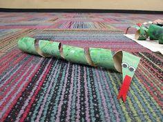 Paper Towel Tube Snake (from Mrs. Karen's Preschool Ideas)