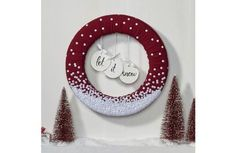 FloraCraft Scandinavian Let It Snow Sequin Wreath