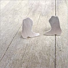 Cowboy Boot Post Earrings in Sterling Silver ~ http://store.camilee.com/boots.html