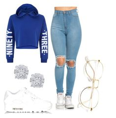 """Untitled #20"" by samariam on Polyvore featuring New Look, NIKE and Effy Jewelry"