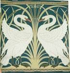 Walter Crane wallpaper that inspired my tiles