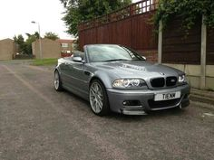 BMW E46 M3 grey cabrio E46 Cabrio, E46 M3, Bmw E46, Cool Sports Cars, Sport Cars, Bmw Angel Eyes, Bmw 3 Series Convertible, Bmw Cars, Dream Garage