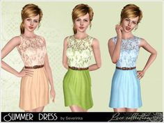 Lace Summer Dress by Severinka  http://www.thesimsresource.com/downloads/1170936