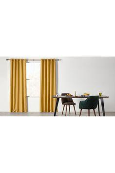 Solar Eyelet Pair of Curtains Mustard, 228 x Solar, Navy Blue Curtains, Curtain Poles, Building A House, Mustard, Design, Bedroom, Home Decor, Linens